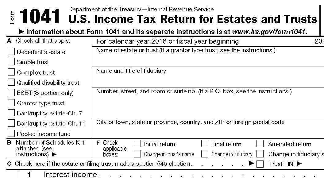 Estate Income Tax Return - When is it due?